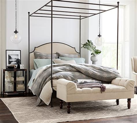 aberdeen bedroom furniture aberdeen canopy bed pottery barn