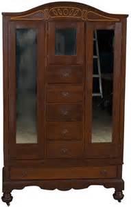 vintage antique style mahogany chifferobe chifforobe