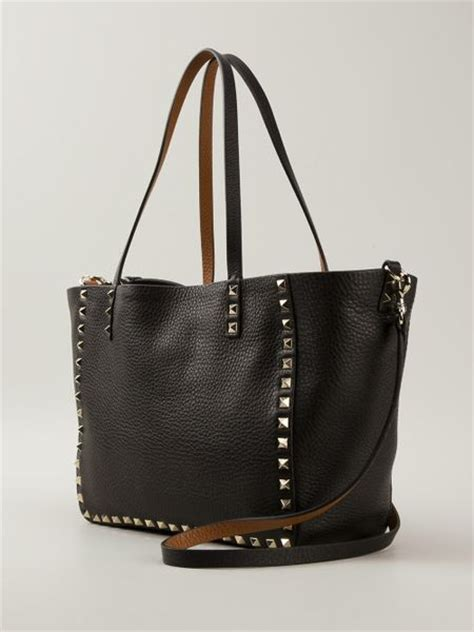 Valentino Studded Tote by Valentino Reversible Studded Mini Tote Bag In Black Lyst