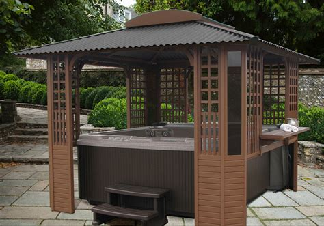 Open Air Gazebo Tubtop Model Fs A Freestanding Open Air Gazebo Alaska Spa