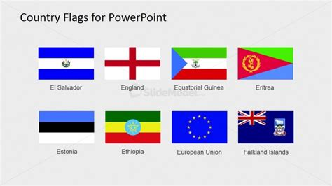 Flags Of The World Powerpoint Shapes Slidemodel Flags Of The World Powerpoint