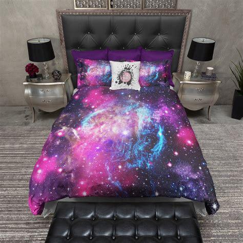 nebula bedding pink and blue nebula galaxy bedding ink and rags