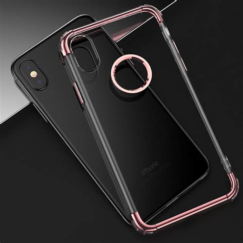 Iphone X Clear Silicone Ultra Thin Electroplating Soft Tpu plating ultra thin clear transparent soft tpu cover for iphone x alex nld