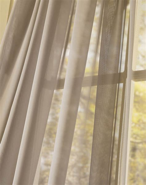 Lightweight Fabric For Curtains Platinum Voile Flowing Sheer Waterfall Valance Curtainworks