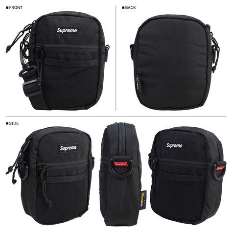 supreme bag supreme shoulder bag black ss17 waist bag box logo small