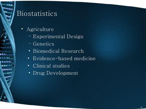 experimental design on biostatistics biostatistics and statistical bioinformatics