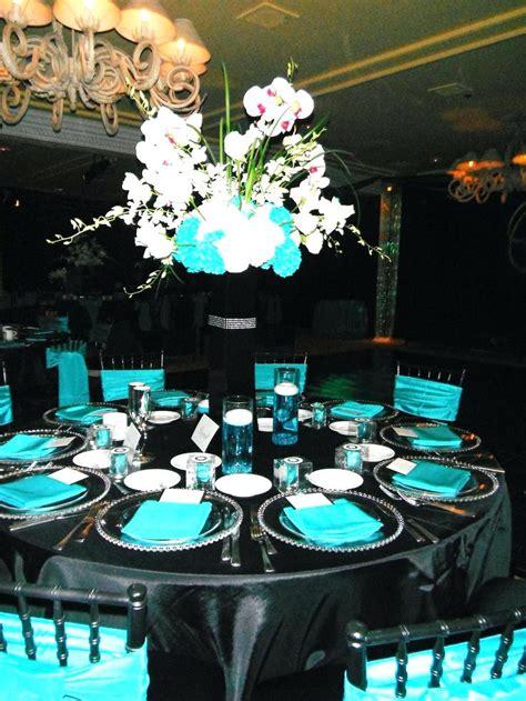 black and silver table decor black white wedding reception