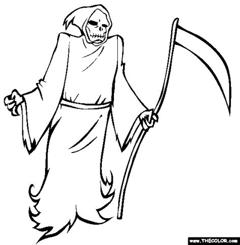 Halloween Online Coloring Pages Page 1 Grim Reaper Coloring Pages