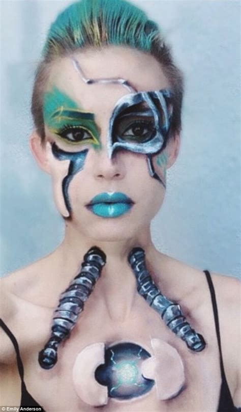 Swedish Blue Paint by Hollywood Make Up Artist Emily Anderson Paints Nightmares