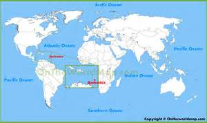 Barbados World Map barbados location on the world map