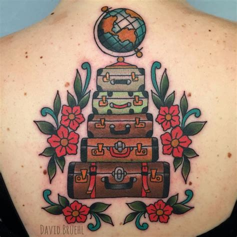 suitcase tattoo designs 852 best traditional school tattoos images on