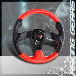 Racing Steering Wheels Ebay Universal Jdm 6 Bolt 320mm Black Pvc Leather