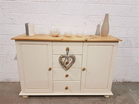 Clotted Shelf by Shabby Chic Pine Sideboard In Rustoleum Clotted