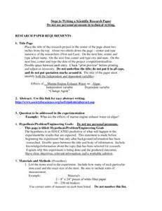 writing scientific research papers order of scientific research paper