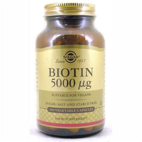 Herbal Bioin biotin 5000 181 g from solgar wwsm