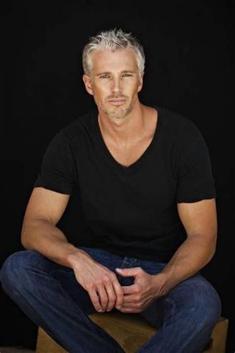 good looking men with grey hair men michael justin model team hamburg even better