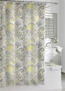 paisley shower curtain bathroom