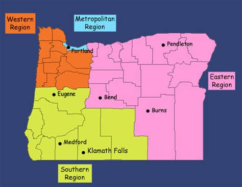 map of oregon regions oregon regions pictures to pin on pinsdaddy
