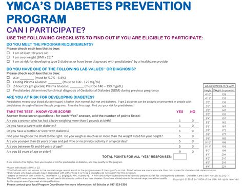 printable diabetes quiz diabetes prevention program ymca of greater dayton