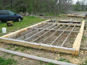 bridges to the future log cabin foundation framed up