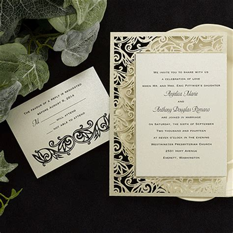 Carlson Craft Wedding Invitations by Carlson Craft Invitations Wedding Invitations Peronalized