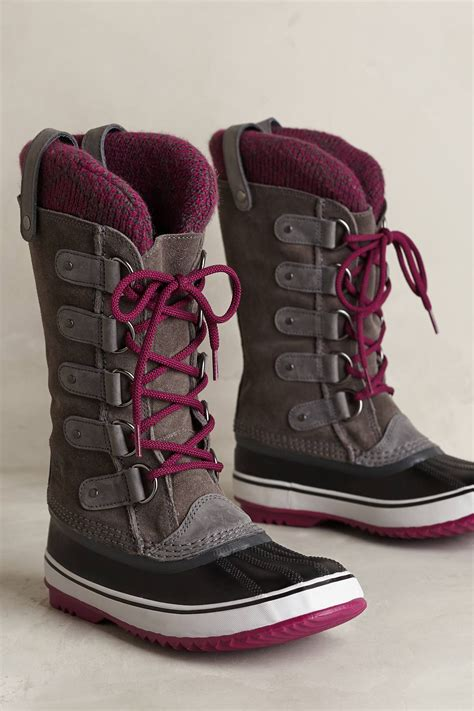 arctic boots for sorel joan of arctic knit boot in brown lyst