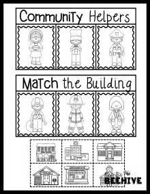 my community worksheets for kindergarten 1000 ideas