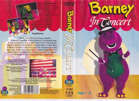 barney and the backyard gang vhs 100 barney backyard gang concert amazon com singing
