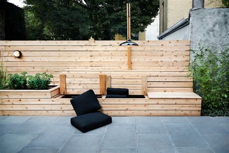 Outdoor Cushion Ideas Magnificent Storage Bench With Baskets And Cushion