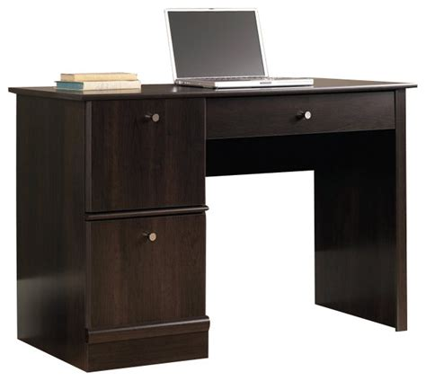 sauder select computer desk in cinnamon cherry