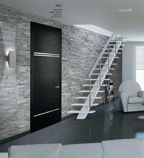 porta a specchio porta in legno nero grafite con inserti a specchio mdb