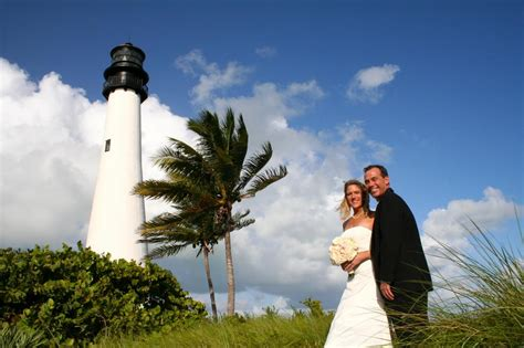 Lighthouse Beach Wedding, Bill Baggs Cape Florida State Park, Key Biscayne, Fl from Beach