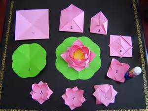 Lotus With Paper A Story Of Paper Lotus Flowers Photos Falun