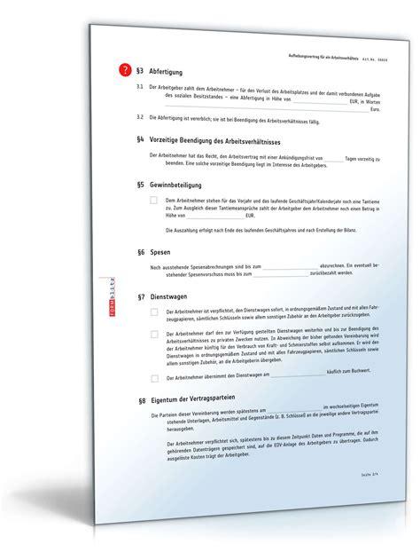 Vorlage Kündigung Arbeitsvertrag Mit Aufhebungsvertrag Aufhebungsvertrag F 252 R Ein Arbeitsverh 228 Ltnis Muster Zum