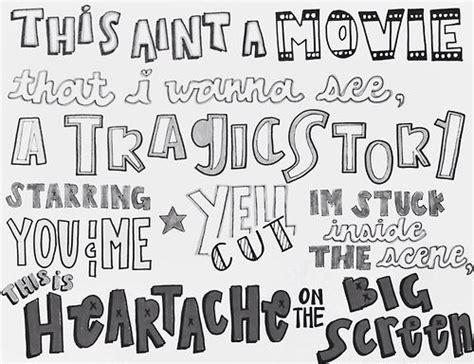 5sos typography heartache on the big screen lyrics 5sos typography quotes the o jays lyric