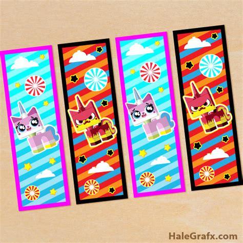 printable lego bookmarks free printable lego movie unikitty bookmarks