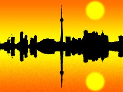 Toronto Artwork by Toronto Skyline Silhouette By Ranjanunited On Deviantart
