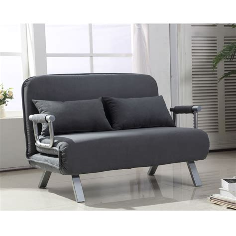 futon chair homcom convertible sofa bed sleeper lounger chair living