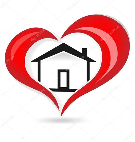 house with a heart house red heart love logo vector stock vector 169 glopphy 72428585