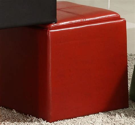 red storage ottoman cube ladd storage cube ottoman red bi cast vinyl from