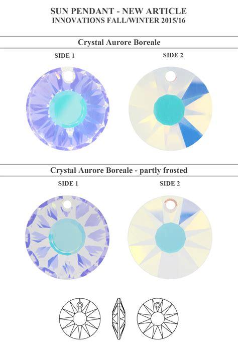 genuine swarovski glass pendants ab color many