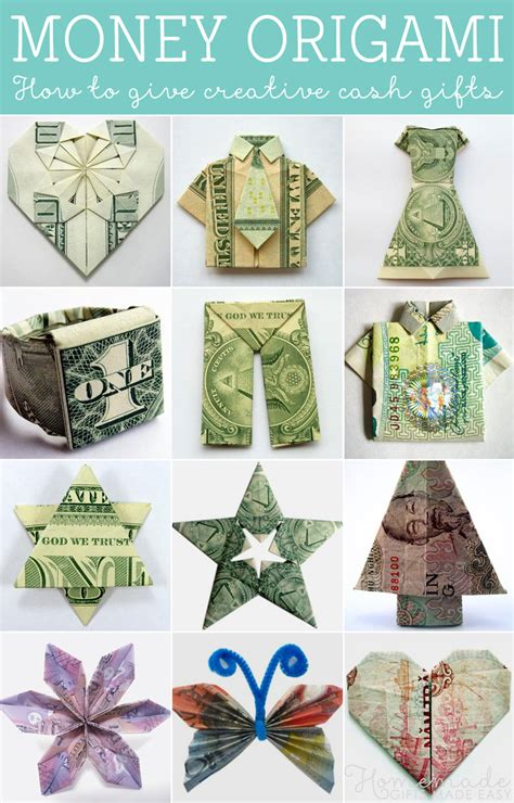 Money Origami Easy - how to fold money origami or dollar bill origami