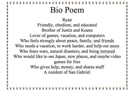 bio poem format high school category poetry mrs kramer s what is a biopoem 7th grade