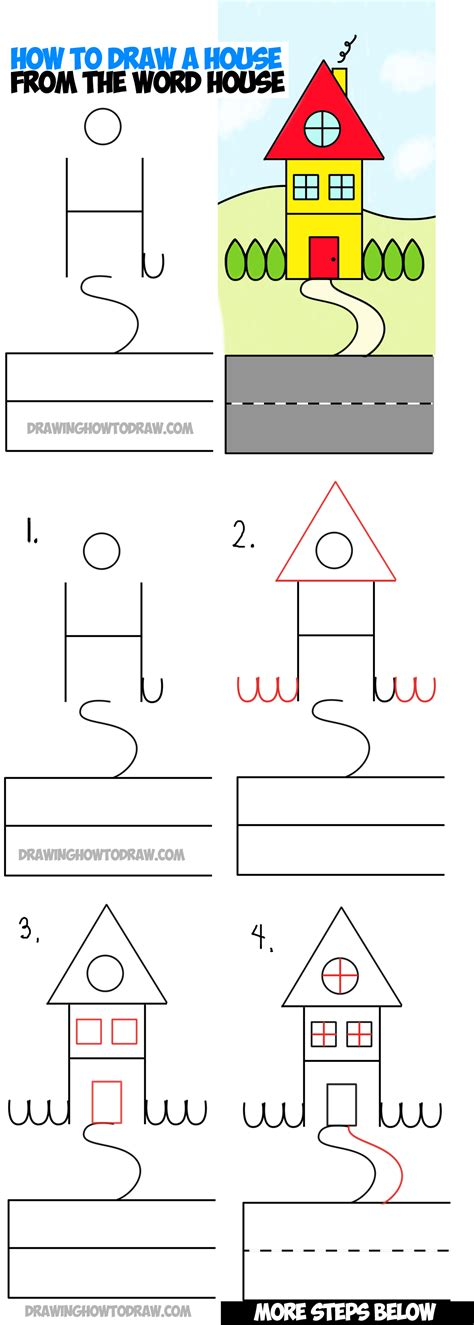 how to draw a house step by step alphabet letters numbers drawing archives how to draw step by step drawing tutorials
