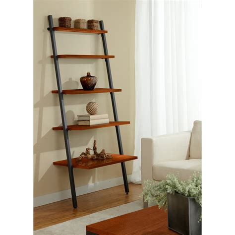 Ladder Shelf Bookcase Jesper Parson Five Tier Ladder Bookcase Bookcases At