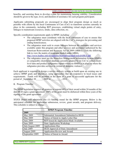 Rfp Template Doc by State Hprp Rfp Template Doc