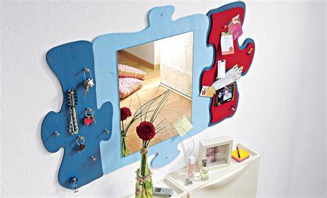 spiegel basteln mit kindern wandspiegel in puzzle optik basteln einrichten