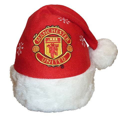 man utd christmas hat  background