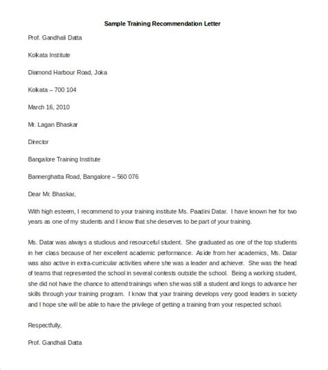 nomination letter template 30 recommendation letter templates pdf doc free