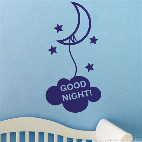 Wall Stickers For Babies wall decals for babies good night wall decal ambiance